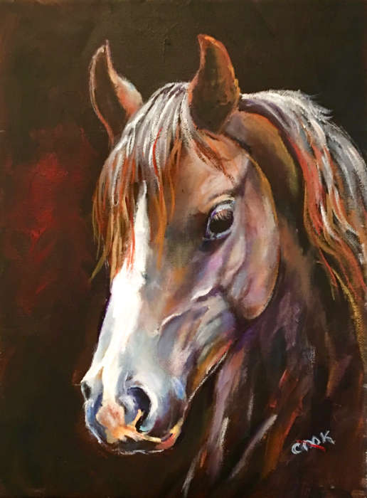 Acrylic Horse Paintings