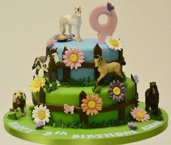 Excellent Horse Cake Personalised Birthday Cards Veneteletsinfo